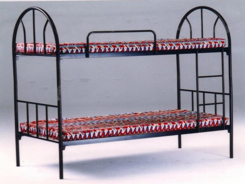Double Decker Bunk Bed + 2 x Mattress