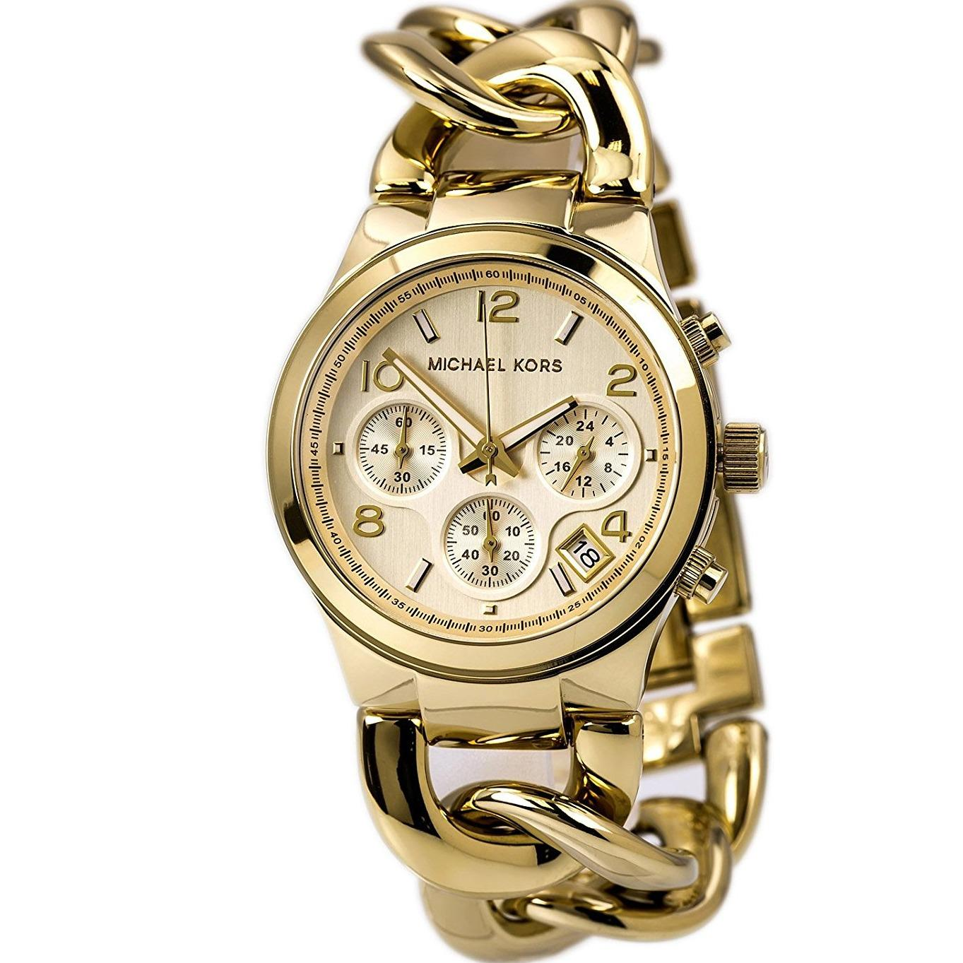Review Michael Kors Runway Twist Chronograph Women S Gold Stainless Steel Strap Watch Mk3131 Michael Kors
