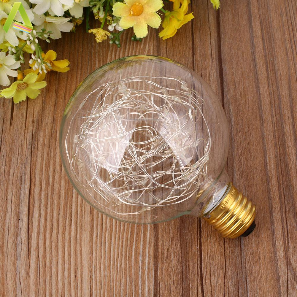 E27 G95 1.6W Edison Bulb Starry 50-LED Lamp Starry Style Filament For Bar Light - intl