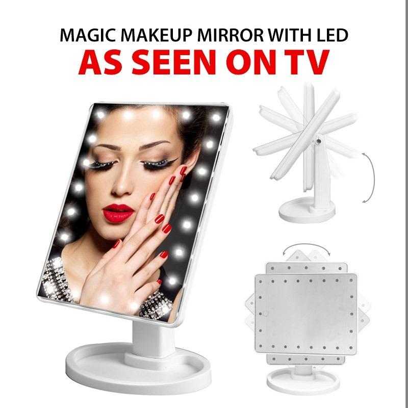 How To Buy Tv Magic Makeup Mirror With Led Assorted Colours