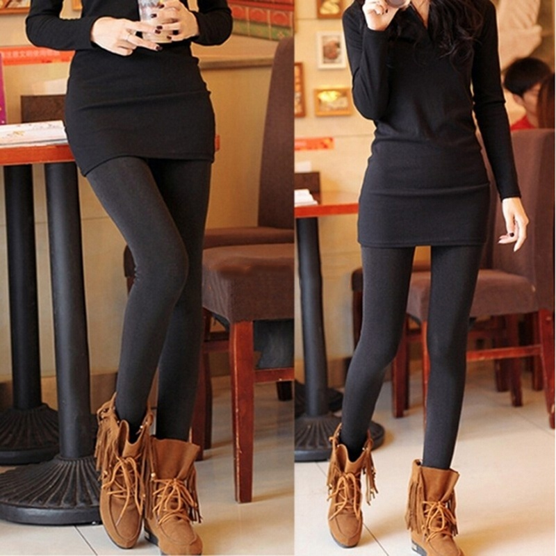 517493abe1c45 Material: Cotton,Polyester,Spandex Style: Brushed Stretch Fleece Lined  Thick Tights Warm Pants Leggings Color: Black Package Includes: 1pc* Legging  Pant