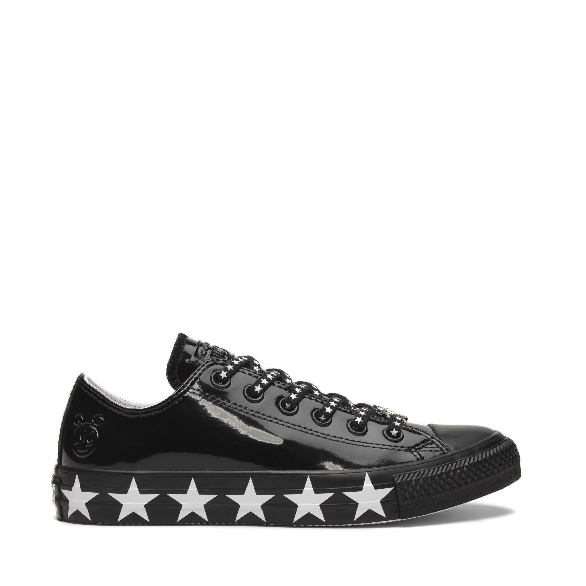 69c8295a2bc0  SALE  CONVERSE MILEY CYRUS CHUCK TAYLOR ALL STAR OX - BLACK WHITE