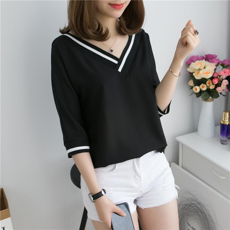 2d2d60a4cbed9 Short Sleeve T-shirt Female 2019 New Style Large Size Dress Fat Mm Loose  Hide