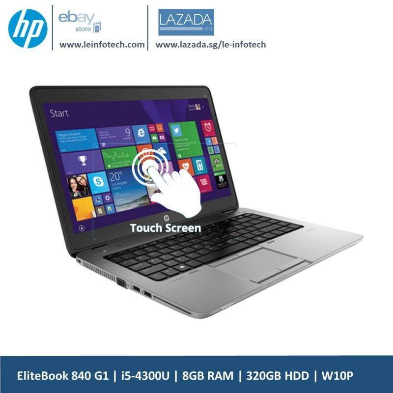 HP Elitebook 840 G1 Touchscreen Notebook 14in  i5-4300U@1.9Ghz 4th Gen 8GB RAM 320GB HDD Win 10 Pro Used