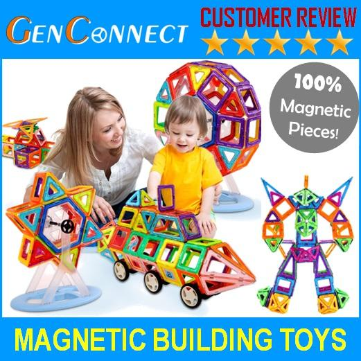 Deliver In 48hours! Mag Magnetic Build Up Educational Toy / Magnetic Toy / Magpieces / Magnetix 138 Pieces(neutral) By Genconnect.