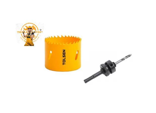 Tolsen Tools by EgHardware, 140mm Bi-metal Holesaw c/w Arbor 2 per Set