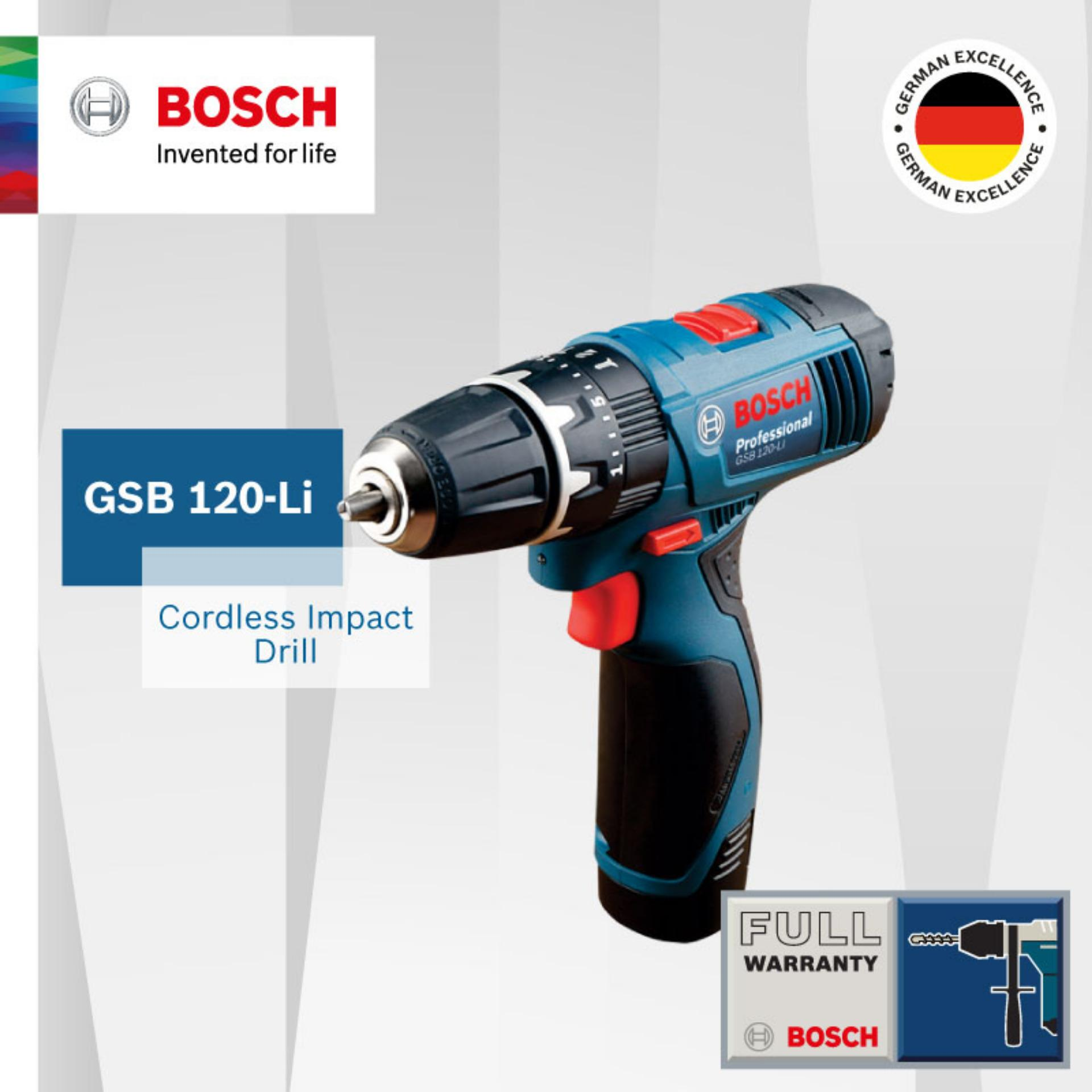 Best Offer Bosch Gsb 120 Li Cordless Impact Drill Set