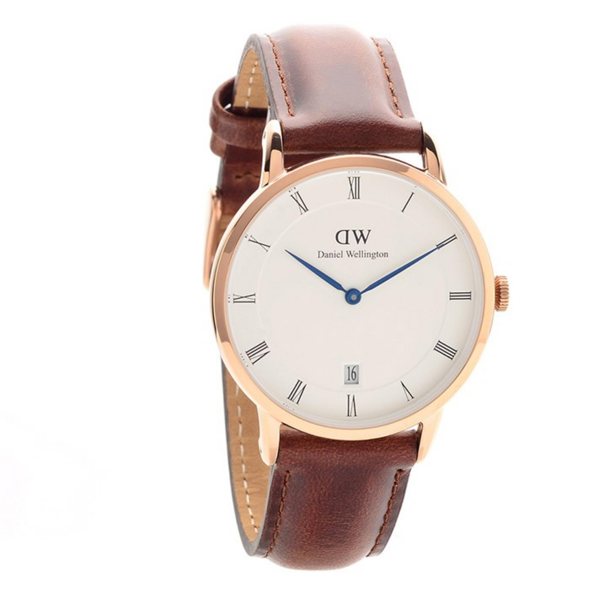 Cheap Daniel Wellington Ladies Dapper 34Mm Rose Gold St Mawes Brown Leather Strap Watch Dw00100091