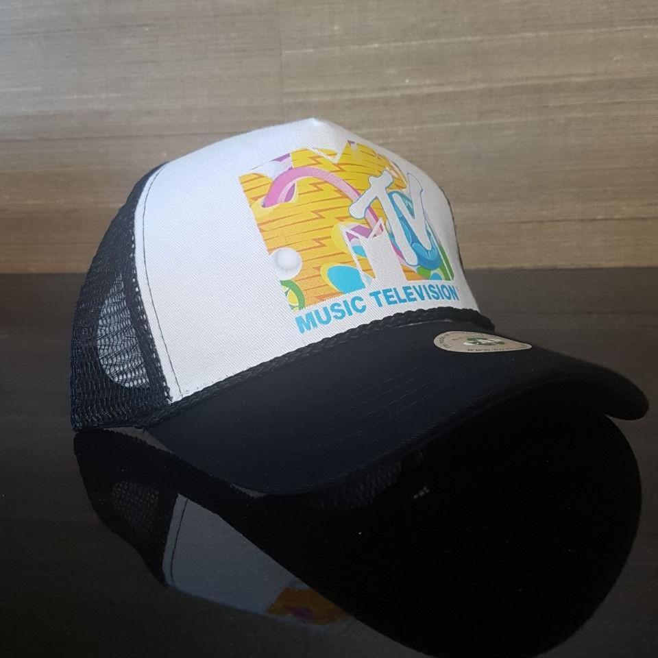 c4b5bb5ffd4 MTV music television Trucker Hat mesh hat snapback hat white new