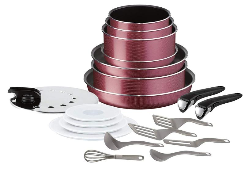 TEFAL Ingenio Essential 20 Pc Limited Edition Red -All Fires Except Induction (Preorder- Will arrive in 7-15 working days) Singapore