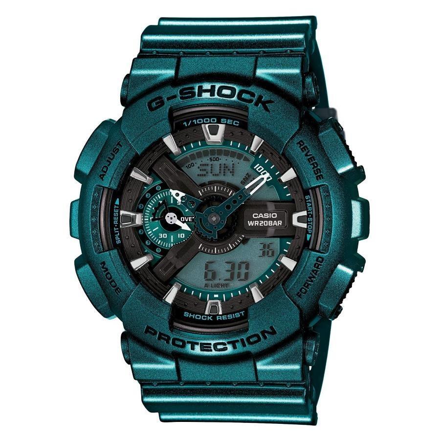 Where Can I Buy Casio Gshock Metallic Green Analogue Digital Watch Ga110Nm 3Adr