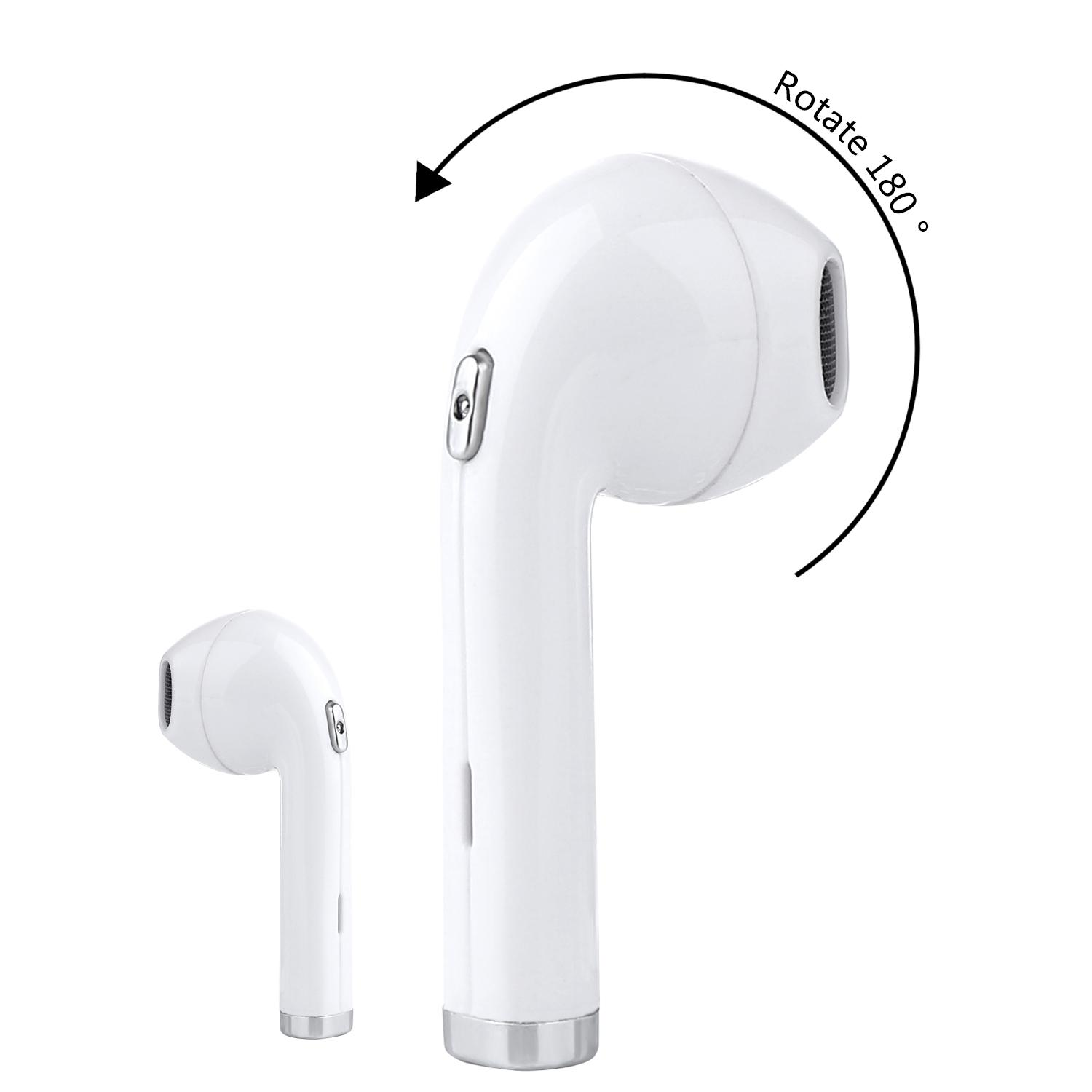 Shop For Bluetooth 4 1 Wireless Earbud Bht Updated 180 Degree Rotated I8 Mini In Ear Earphone Earpiece Headphone Noise Cancelling With Mic For Iphone 8 X 7 7Plus 6 6S 6 Plus 5S Ipad Ipod Android Samsung S8 S8 Plus One Pcs