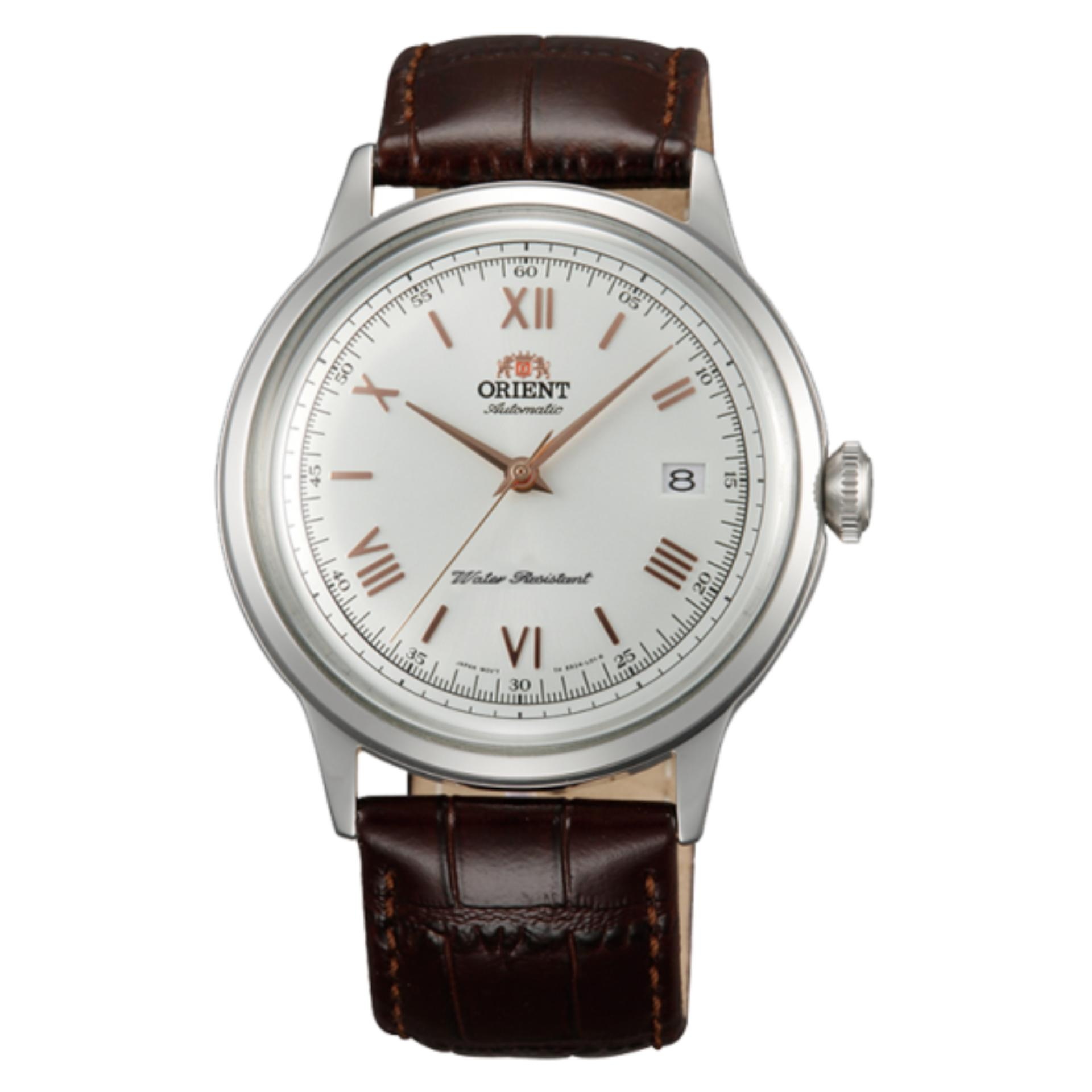 Orient Bambino Version 2 Japan Automatic Gold Hands Gent's Leather Elegant Watch SAC00008W0
