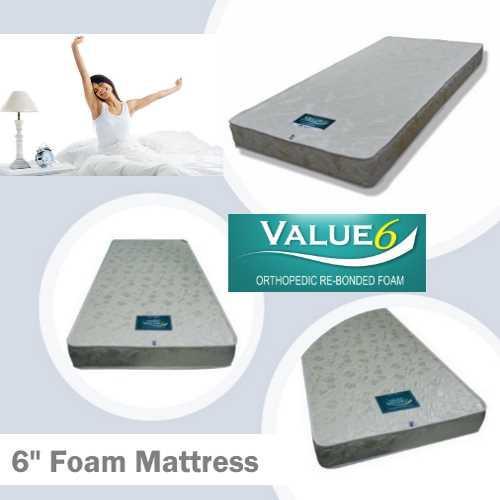 Value6 6in Foam Mattress                                    (Single/Super Super/Queen)