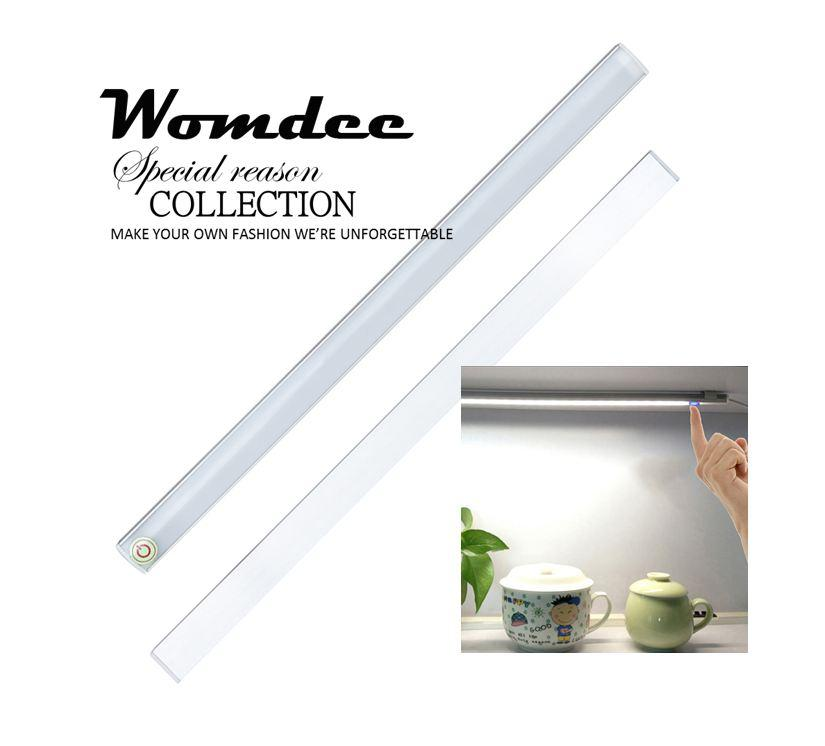 Womdee Sensor Closet Lights, Under-Cabinet Lightening, Usb Rechargeable, Stick-On Cordless Led Night Light Wardrobe Stairs Step Light Bar, Safe Lights With Strip - Intl By Womdee.
