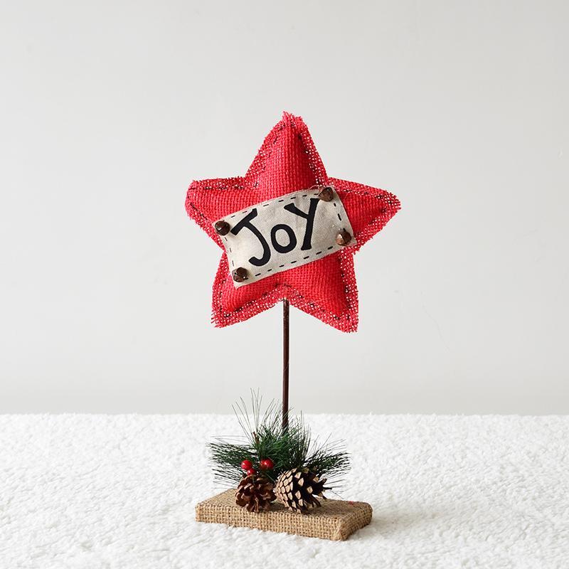 Happy. Northern Europe Creative Linen xingx bingo honguo Scene Decorative Desktop Ornaments Christmas Ornaments