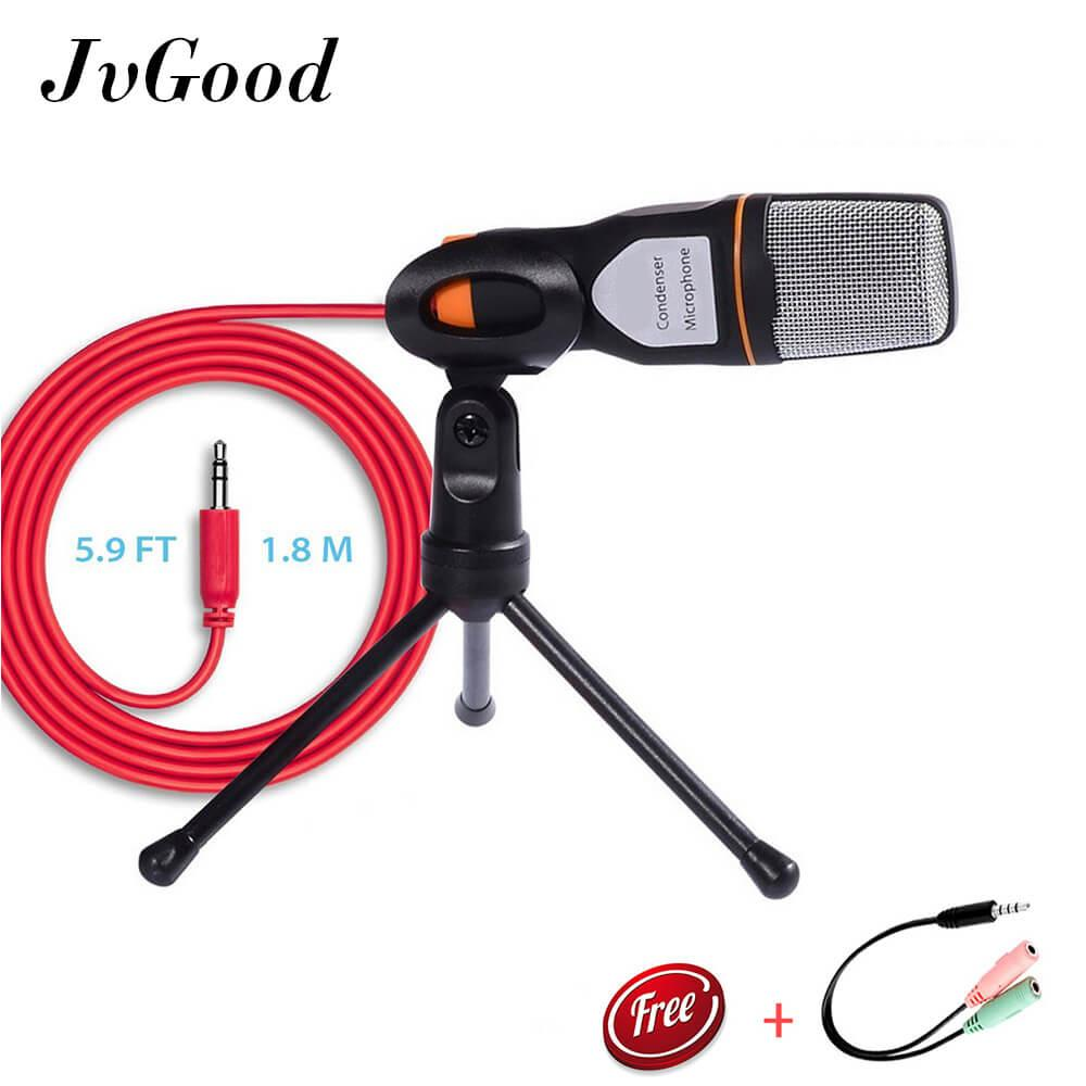 Jvgood Professional Condenser Sound Podcast Studio Microphone With Tripod Stand For Pc Laptop Computer Sound Studio Recording Chatting Skype Msn - Intl By Jvgood.