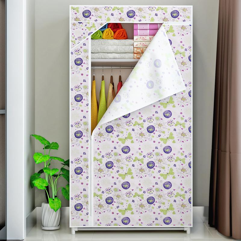 MWT1 Single Person Simple Wardrobe Moisture-Proof Cloth Wardrobe Reinforced Steel Frame Closet Component Wardrobe