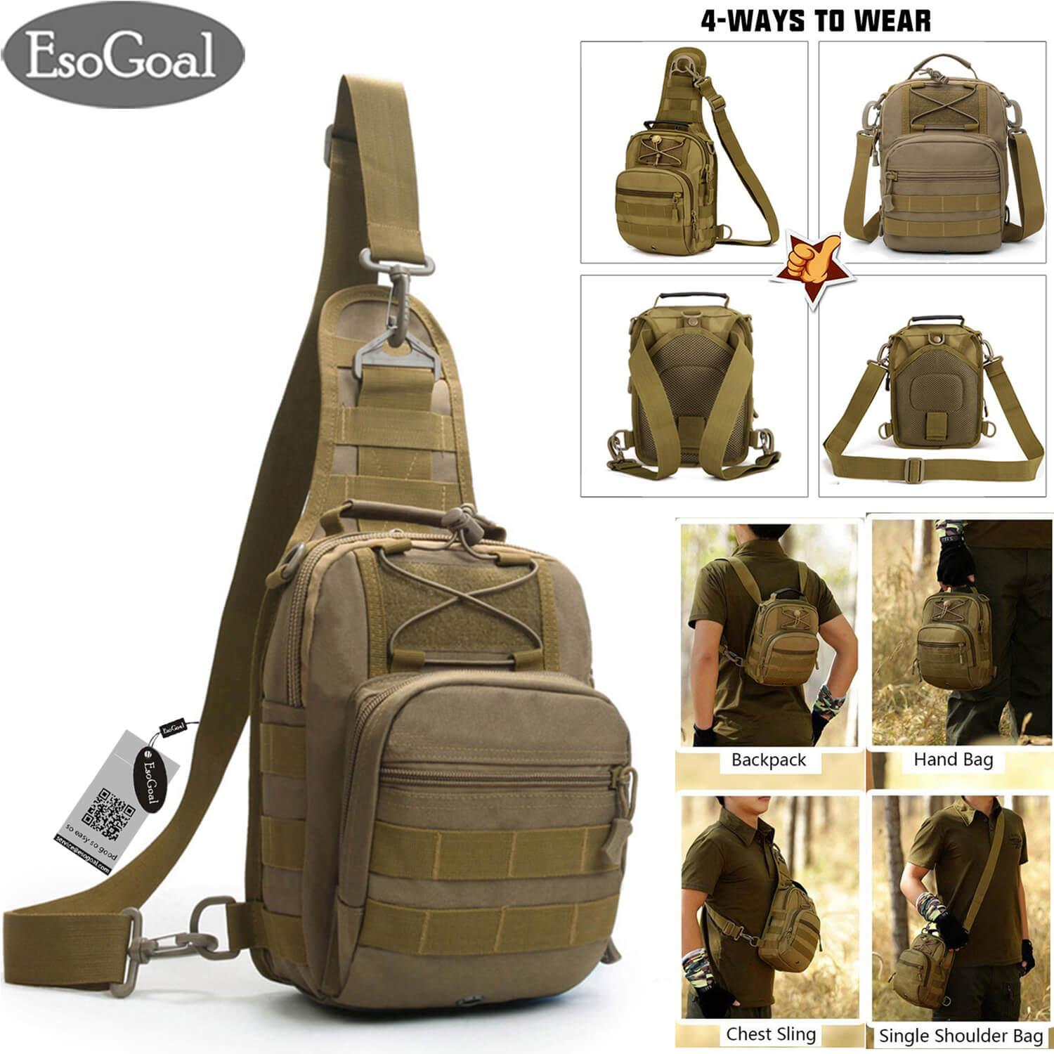 7d58b80ea46d EsoGoal Military Tactical Chest Backpack Shoulder Bag Sling Daypack Travel Bag  Pack for Hunting, Camping