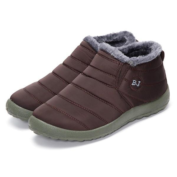 57bd09fe066e HOT Women s Winter Warm Fabric Fur-lined Slip On Ankle Snow Boots Sneakers  Shoes -