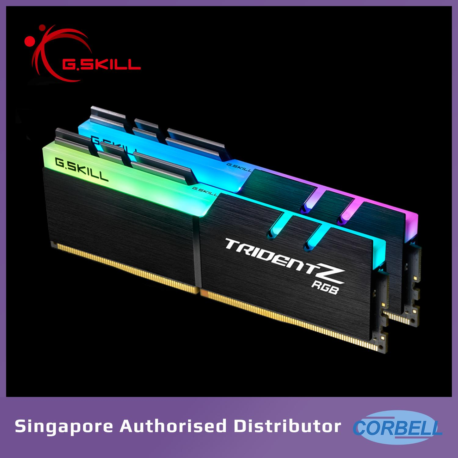 G.skill Trident Z Rgb 3200mhz 2x8gb Ddr4 Dual Channel Kit By Corbell Technology Pte Ltd.