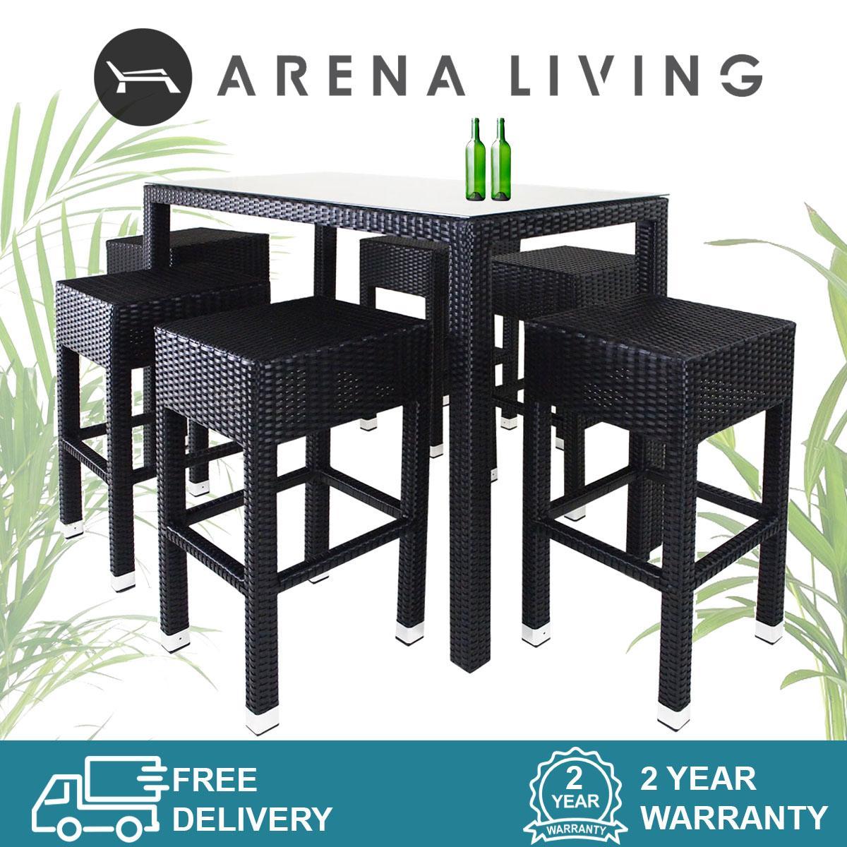 Sorona 6 Chair Bar Set   Outdoor Furniture   Balcony Chair   Bar Chair