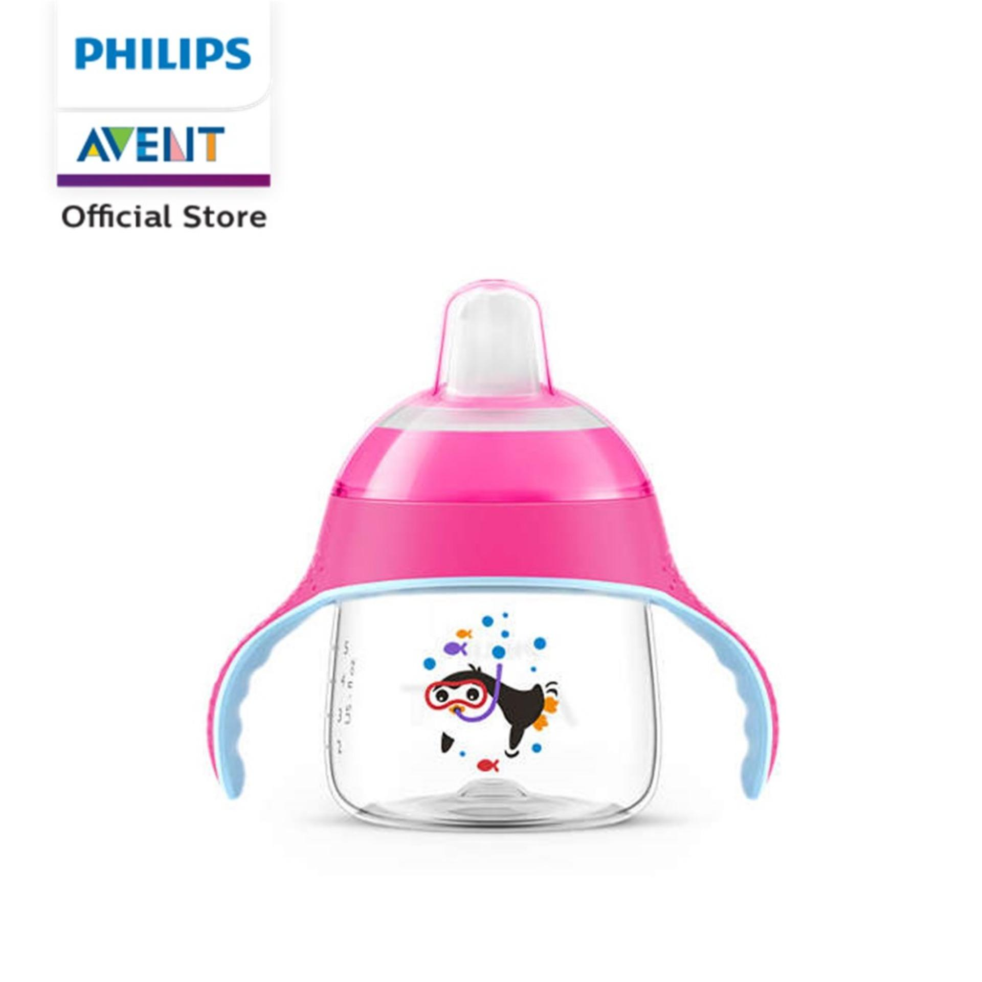 Philips Avent Spout Cup 200ml (pink) By Philips Avent Official Store.