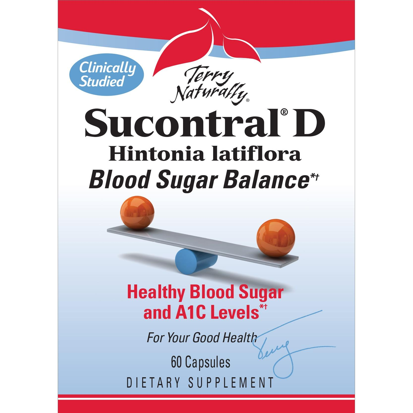 Terry Naturally Sucontral D 60 Caps (blood Sugar Balance - Healthy Insulin Function & Glucose Support) By Pain Solutions Pte Ltd.