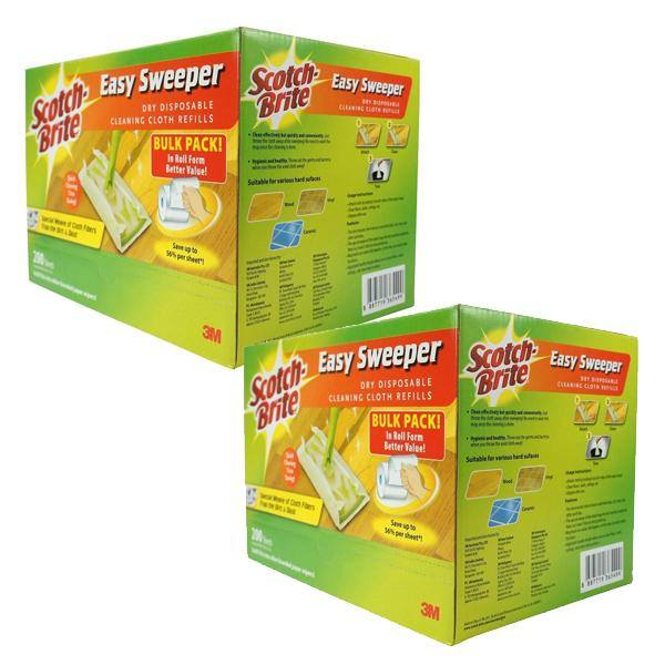 Retail Price Bundle Of 2 3M Scotch Brite Easy Sweeper Dry Wiper Bulk Pack 200 Sheets