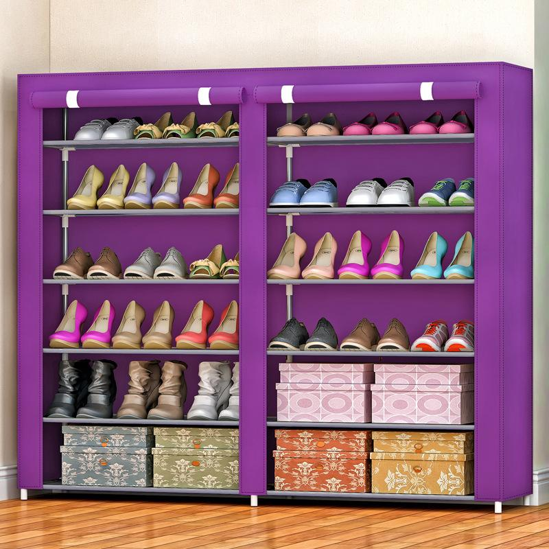 12 lattices shoes rack Dust-proof Oxford Cloth Shoes Cabinet