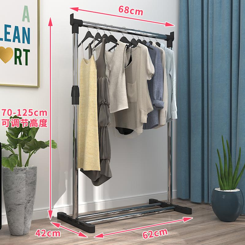 Clothes Rack Floor Folding Double Poles-Single Pole-Clothing Rod Snnei Drying Rack Bedroom Hanger Hanging Clothes Rack By Taobao Collection.