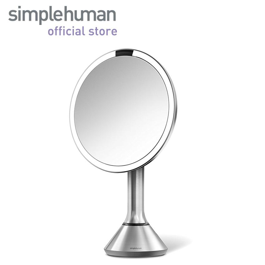 For Sale Simplehuman Sensor Mirror 8 Inch Round Without Touch Control Brightness 5X Magnification Stainless Steel