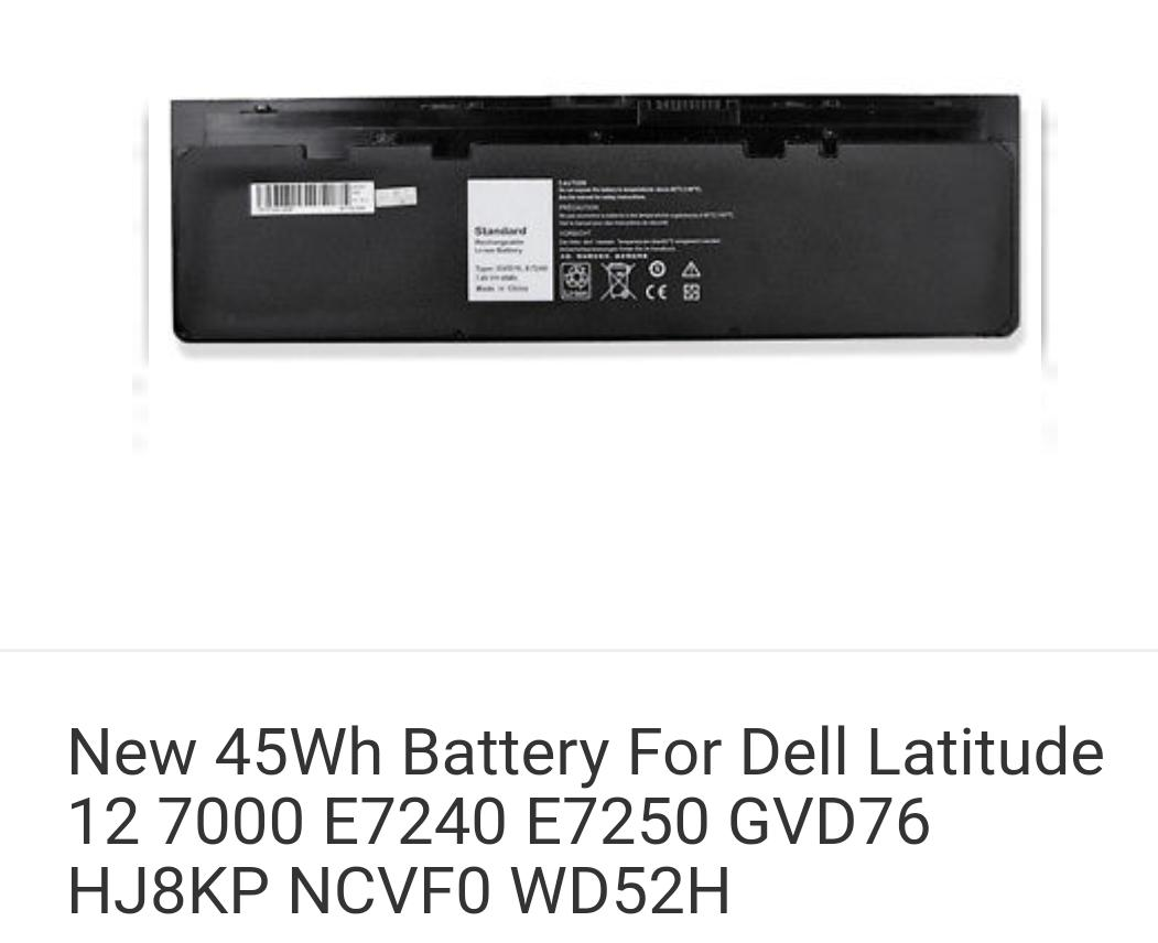 New 45Wh Battery For Dell Latitude 12 7000 E7240 E7250 GVD76 HJ8KP NCVF0 WD52H
