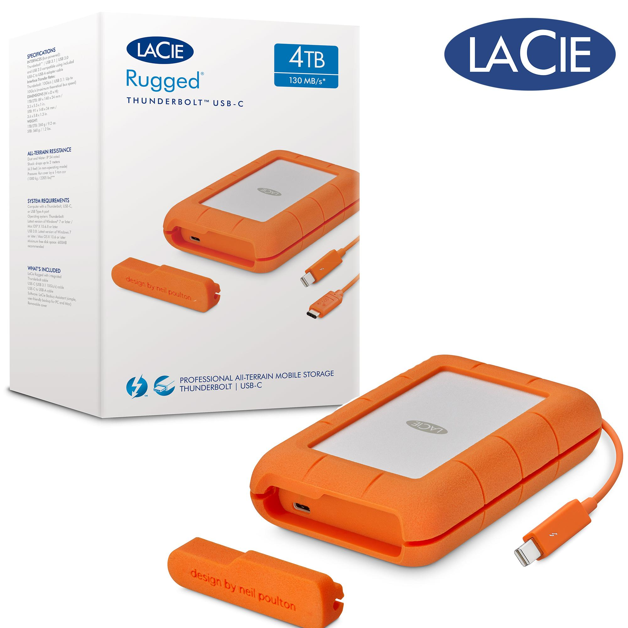 Lacie 4tb Rugged Thunderbolt Usb C
