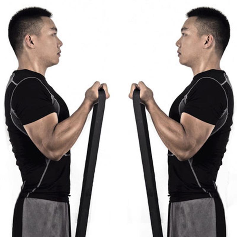 UMEIS Men Fitness Pull Strap Rehabilitation Training Resistance Band Hairband Pulling Rope Circle Elastic Band Power