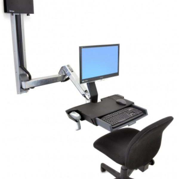 Ergotron SV Sit-Stand Combo Extender (Polished Aluminum)