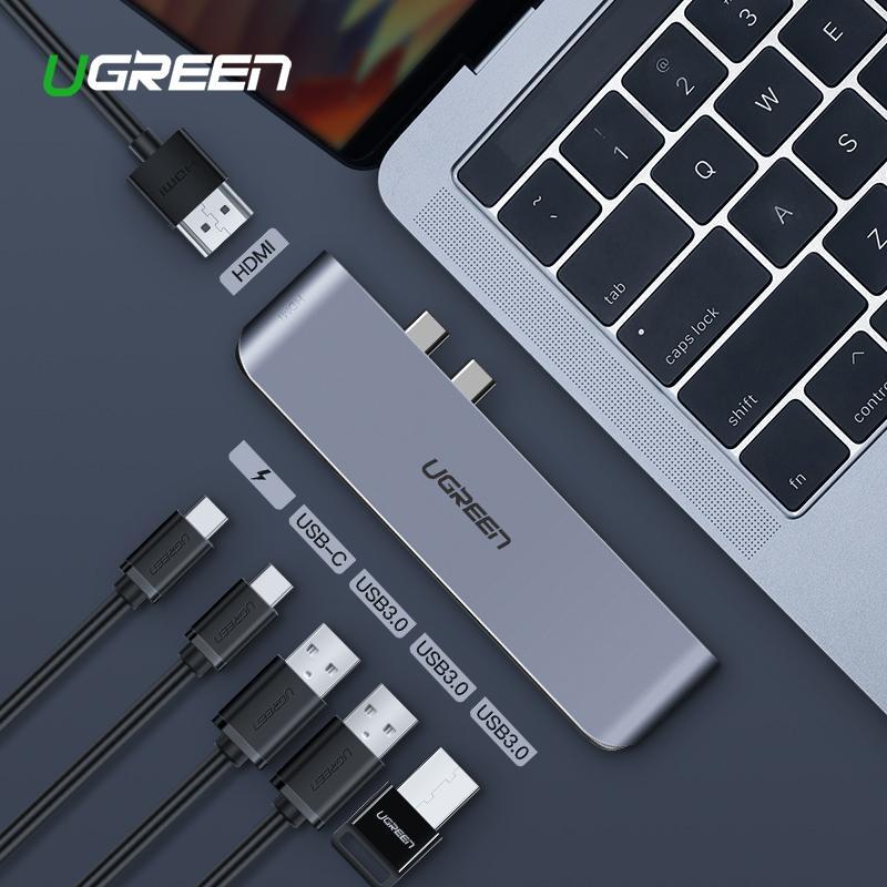 UGREEN USB C HUB Dual Type C to USB 3.0 Splitter HDMI Adapter for MacBook Pro 2016/2017/2018 Thunderbolt 3 USB-C Port USB HUB-Intl