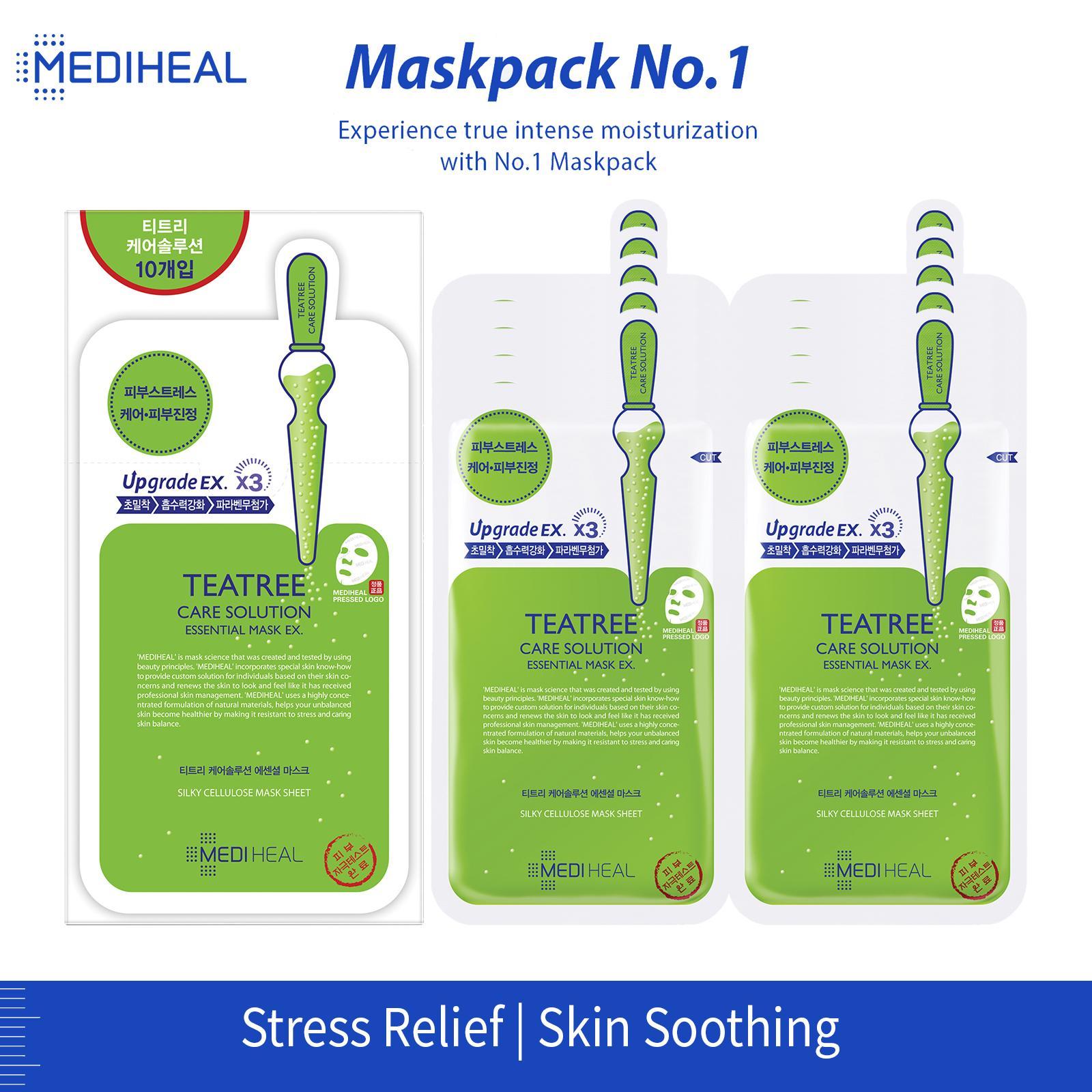MEDIHEAL Teatree Care Solution Essential Mask Box (24ml x 10pc)
