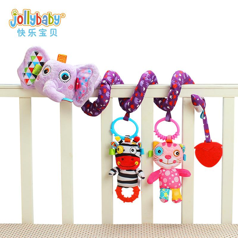 Jollybaby0-1-Year-Old Newborns Plush Toys Educational Infant Bed Bell chuang rao Baby Rattle chuang gua jian