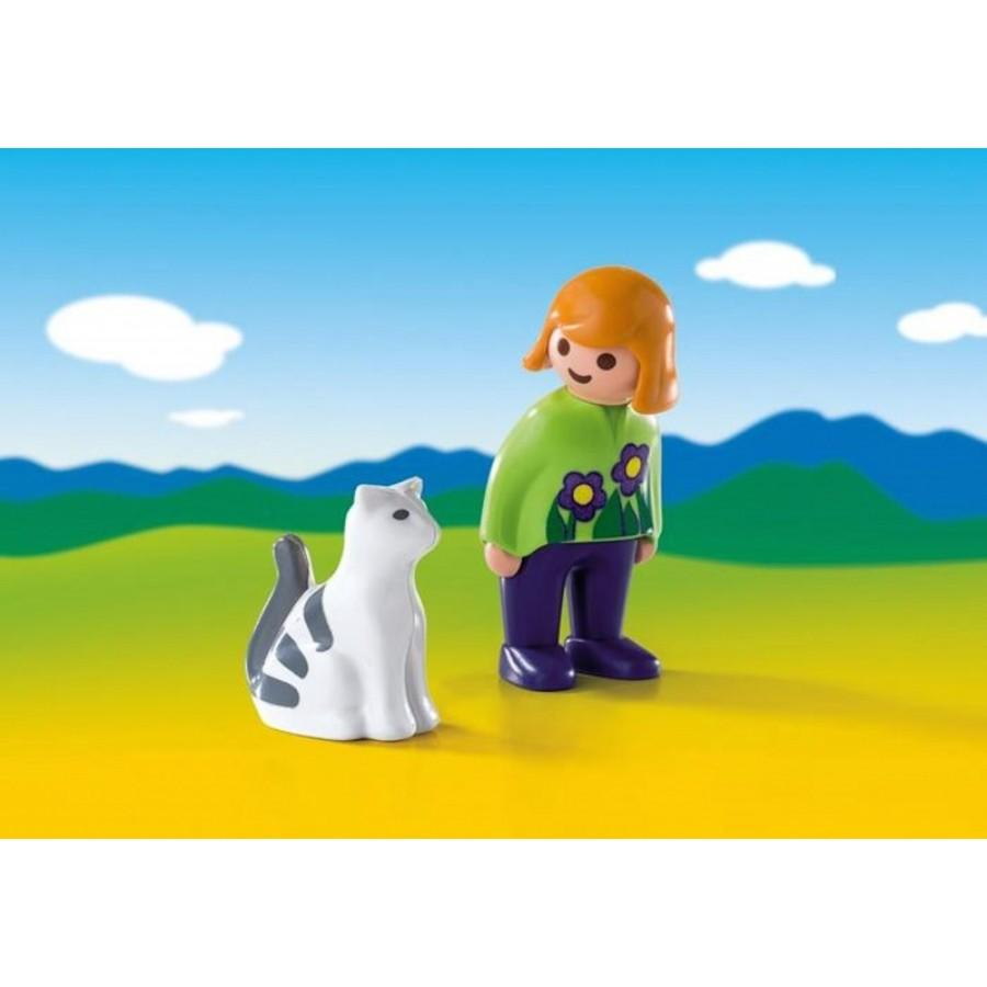 Playmobil Woman With Cat