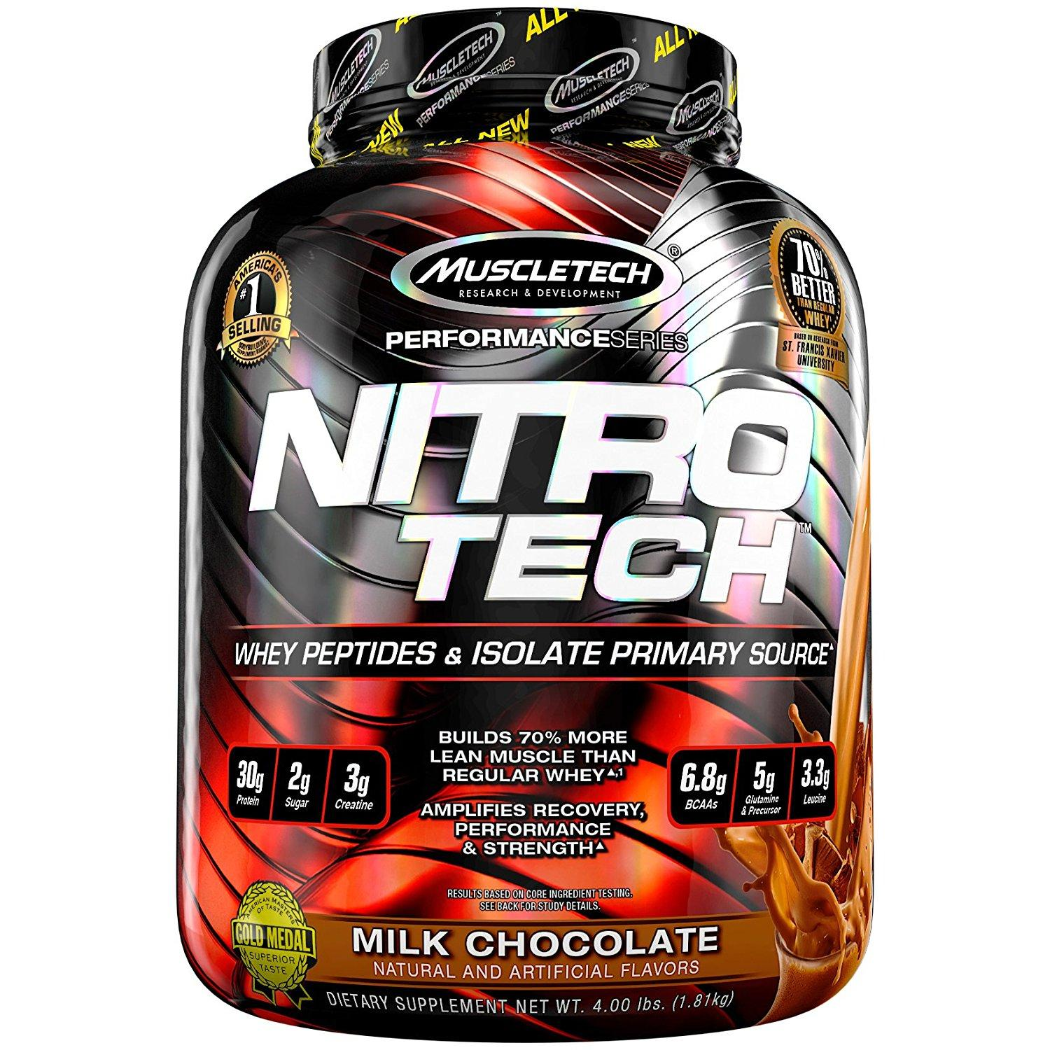 Muscletech Performance Series Nitrotech (3.97lbs) - Milk Chocolate By Nutrition Depot.