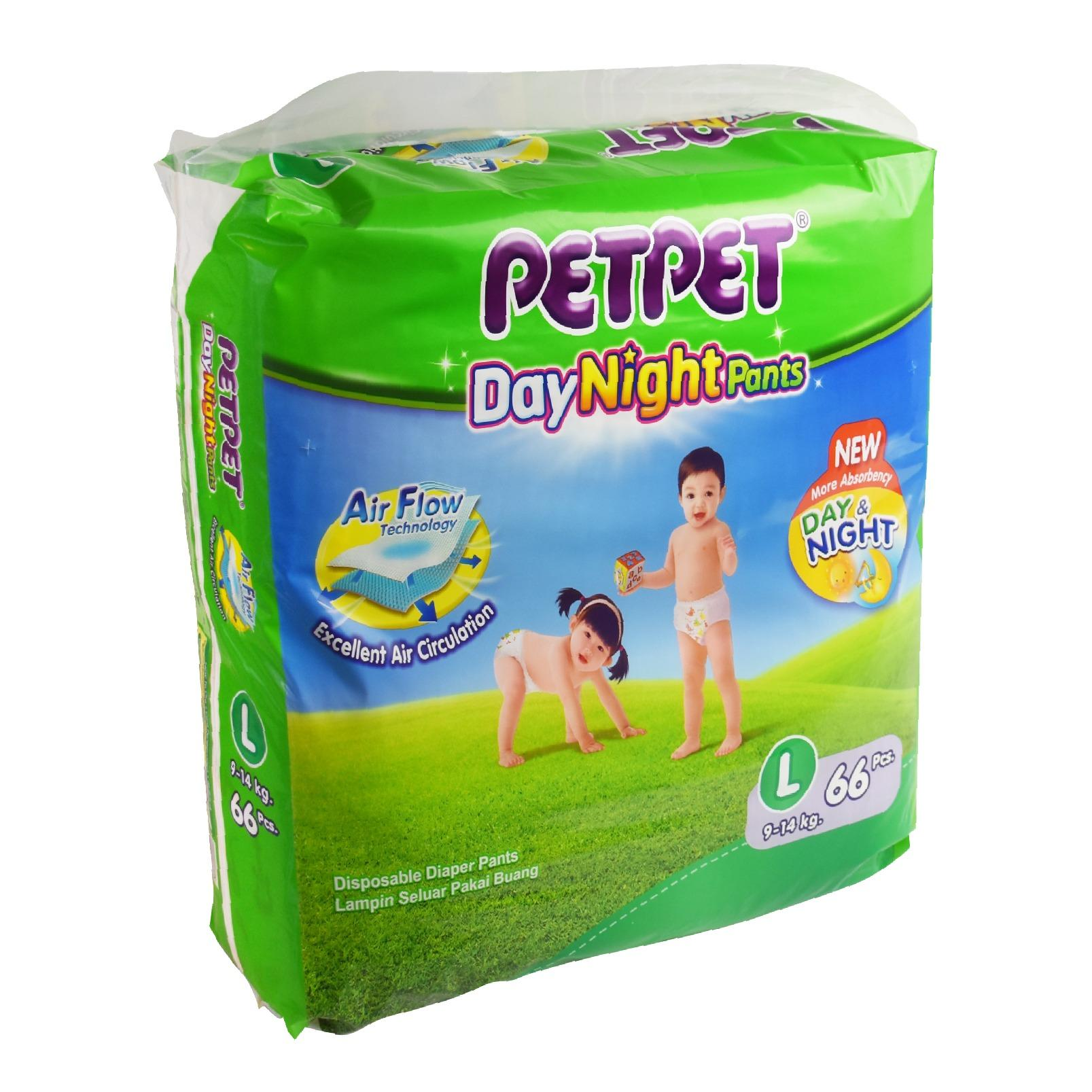 PetPet DayNight Pants Mega Pack L66 x 3 Packs