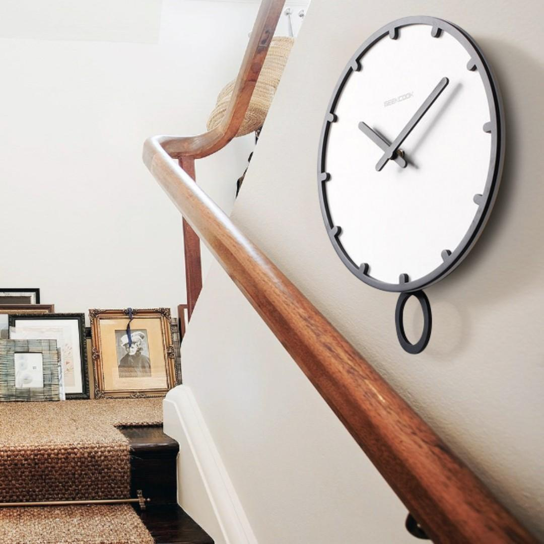 Wall Clock Silent Quality Quartz Benhard Decor Home School Bedroom Plastic Livingroom Wood
