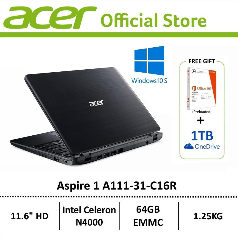 Acer Aspire 1 A111-31-C16R (Black) Lightweight Laptop