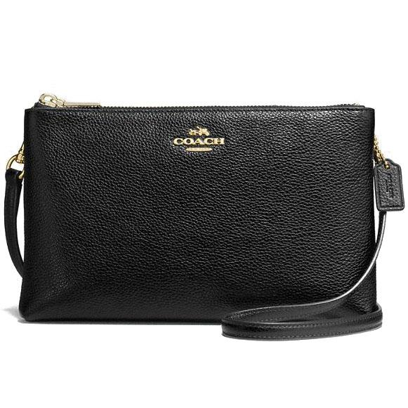 New Coach Lyla Crossbody In Pebble Leather Handbag Gold Black F38273 Gift Receipt