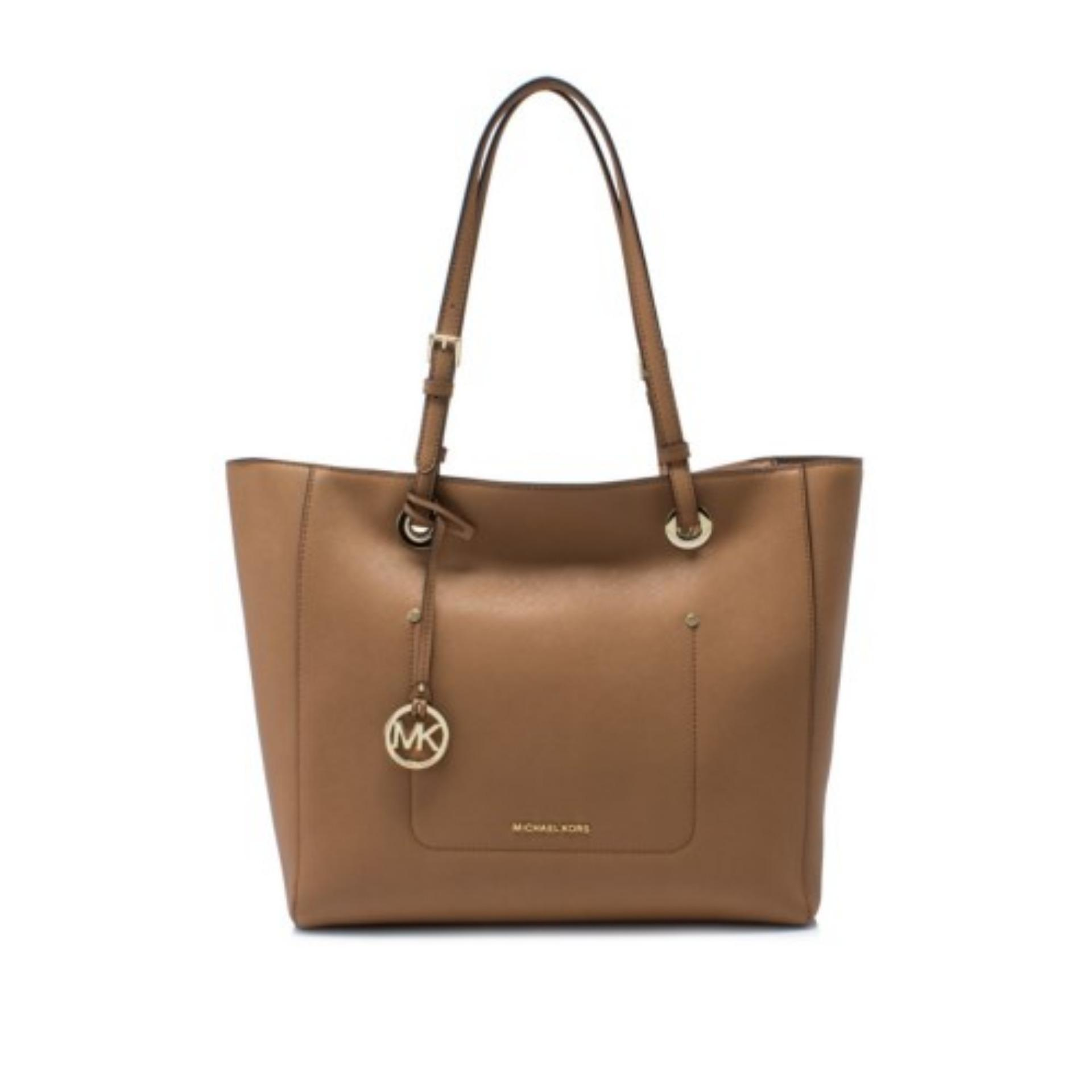 9b8956a5bf19 Michael Kors Walsh Large East West Top Zip Tote Bag (Acorn)    30S7GWAT4LACORN
