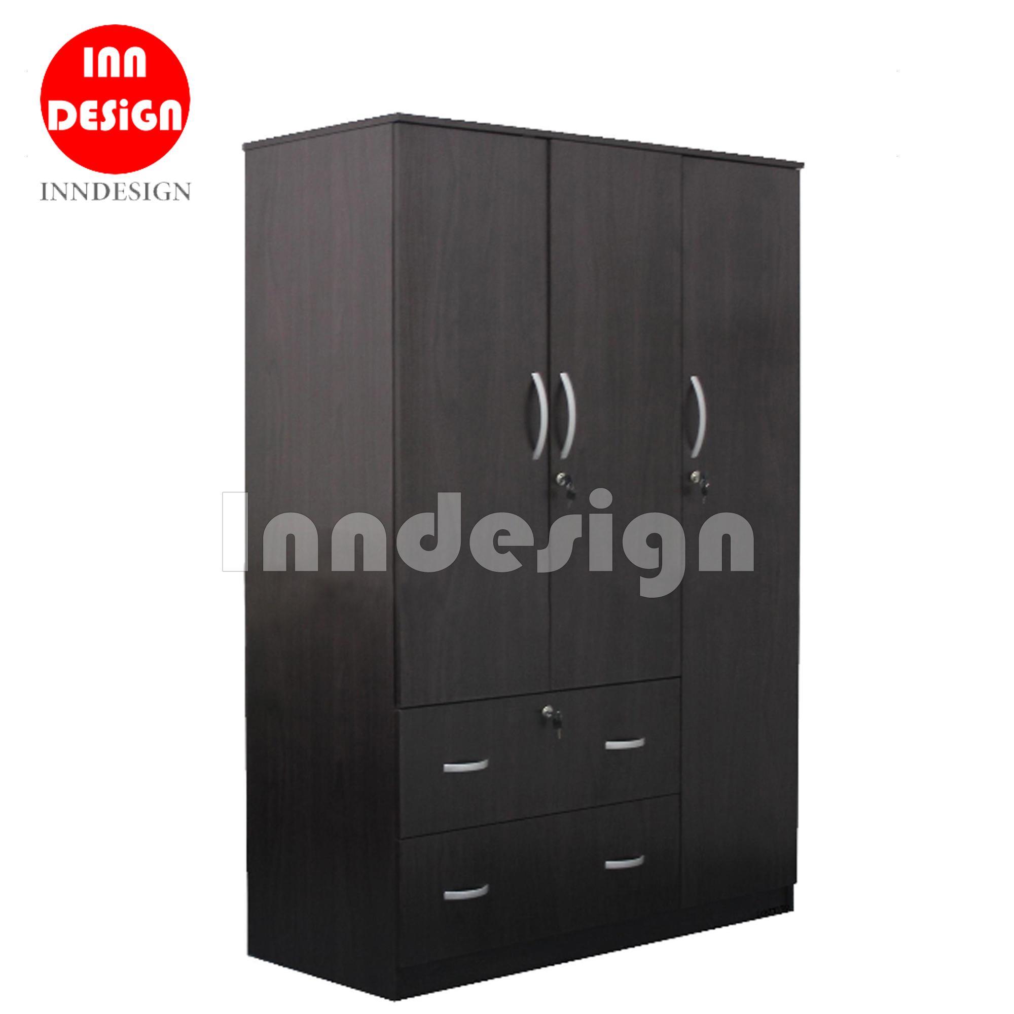 Angela 3 Doors Wardrobe (Free Installation)/ Open Wardrobe