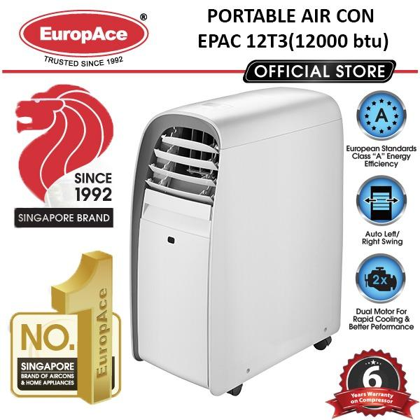 Get The Best Price For Europace Epac 12T3 12 000 Btu Portable Aircon