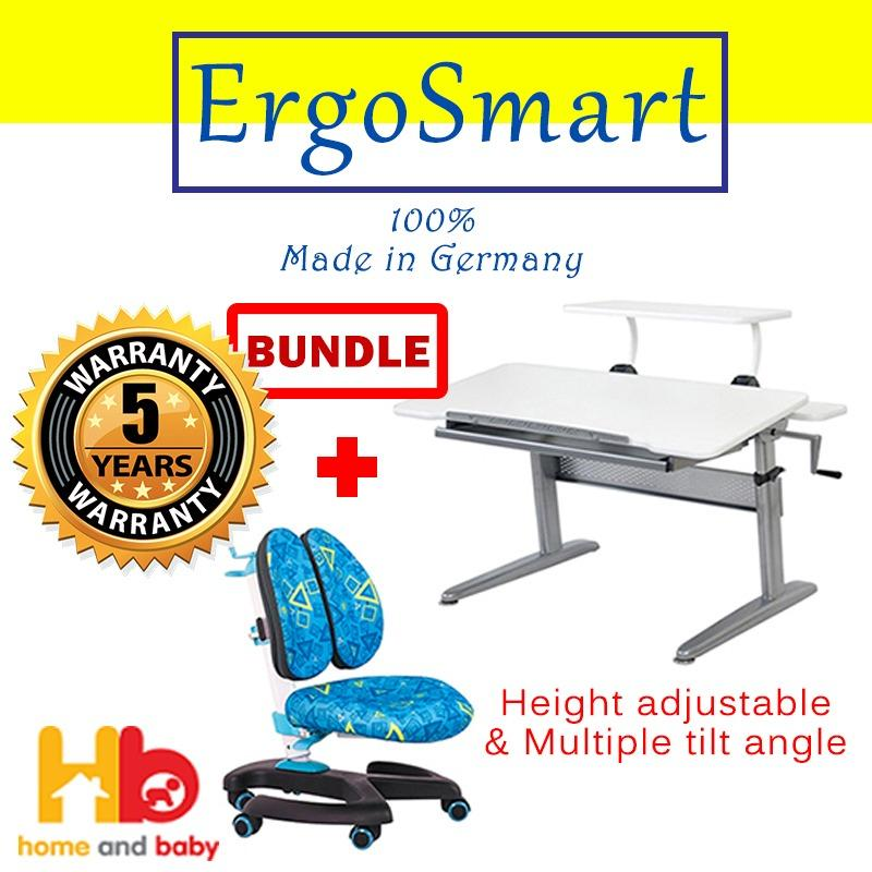 Ergo Junior Plus Desk + ErgoSmart Ergo Back Chair Bundle Set