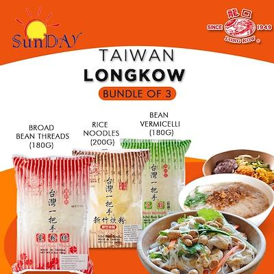 [bundle Of 3, Offer 5] Taiwan Longkow Noodles (3 X Broad Bean Threads) By Sunday.